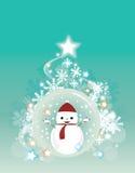 Ανασκόπηση χιονανθρώπων Χριστουγέννων Στοκ φωτογραφίες με δικαίωμα ελεύθερης χρήσης