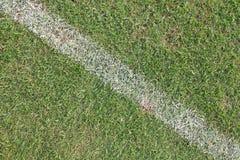 Ανασκόπηση χλόης ποδοσφαίρου Στοκ Φωτογραφίες