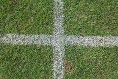 Ανασκόπηση χλόης ποδοσφαίρου Στοκ Εικόνες