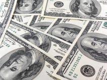 Ανασκόπηση χρημάτων από τα δολάρια ΗΠΑ Στοκ Φωτογραφία