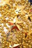 Ανασκόπηση Χριστουγέννων με τα αστέρια Στοκ φωτογραφία με δικαίωμα ελεύθερης χρήσης