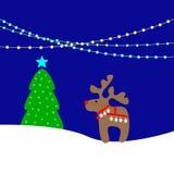 Ανασκόπηση Χριστουγέννων με τα φω'τα Στοκ φωτογραφία με δικαίωμα ελεύθερης χρήσης