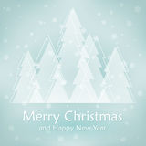 Ανασκόπηση Χριστουγέννων με το δέντρο Στοκ Φωτογραφίες