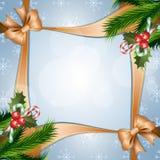 Ανασκόπηση Χριστουγέννων με το μούρο ελαιόπρινου Στοκ Φωτογραφίες