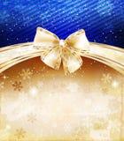 Ανασκόπηση Χριστουγέννων με το τόξο διανυσματική απεικόνιση