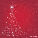 Ανασκόπηση Χριστουγέννων με το χριστουγεννιάτικο δέντρο, απεικόνιση Στοκ Εικόνες