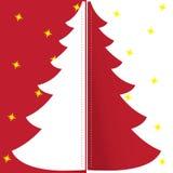 Ανασκόπηση Χριστουγέννων με το χριστουγεννιάτικο δέντρο, απεικόνιση Στοκ Φωτογραφία