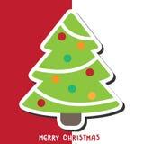 Ανασκόπηση Χριστουγέννων με το χριστουγεννιάτικο δέντρο, απεικόνιση Στοκ εικόνα με δικαίωμα ελεύθερης χρήσης