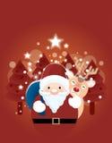 Ανασκόπηση Χριστουγέννων με το santa Στοκ Εικόνες