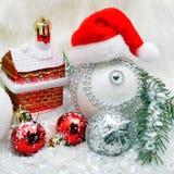 Ανασκόπηση Χριστουγέννων με snow στοκ εικόνες με δικαίωμα ελεύθερης χρήσης
