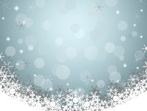 Ανασκόπηση Χριστουγέννων με snowflake Στοκ φωτογραφία με δικαίωμα ελεύθερης χρήσης