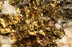 ανασκόπηση χρυσή Μακρο φωτογραφία του πολύτιμου λίθου Στοκ Εικόνες