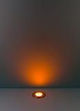 Ανασκόπηση χρώματος με το βολβό φωτισμού Στοκ φωτογραφίες με δικαίωμα ελεύθερης χρήσης