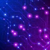ανασκόπηση ψηφιακή Αφηρημένο υπόβαθρο σύνδεσης τεχνολογίας επίσης corel σύρετε το διάνυσμα απεικόνισης Στοκ Φωτογραφίες