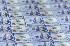 Ανασκόπηση 100 Bill δολαρίων Στοκ Φωτογραφία