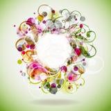 ανασκόπηση eps10 floral Στοκ φωτογραφία με δικαίωμα ελεύθερης χρήσης