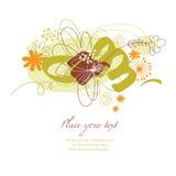 ανασκόπηση floral Διανυσματική απεικόνιση