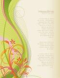 ανασκόπηση floral swirly Απεικόνιση αποθεμάτων