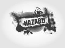 Ανασκόπηση Grunge κινδύνου απεικόνιση αποθεμάτων