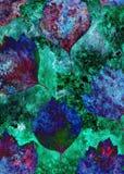 Ανασκόπηση Grunge με τα φύλλα φθινοπώρου Ελεύθερη απεικόνιση δικαιώματος
