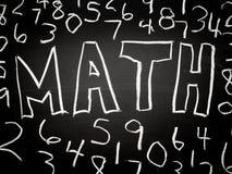 Ανασκόπηση Math Στοκ φωτογραφίες με δικαίωμα ελεύθερης χρήσης