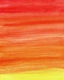 Ανασκόπηση watercolor κλίσης στα θερμά χρώματα Στοκ φωτογραφίες με δικαίωμα ελεύθερης χρήσης