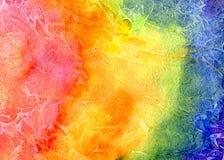 Ανασκόπηση watercolor ουράνιων τόξων Στοκ εικόνες με δικαίωμα ελεύθερης χρήσης