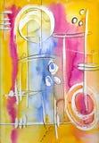 ανασκόπηση watercolour Στοκ Εικόνα