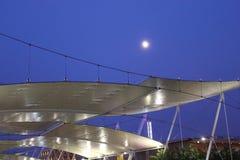 Ανασταλμένη σκηνή δομή Decumanus σε EXPO 2015 Στοκ εικόνες με δικαίωμα ελεύθερης χρήσης