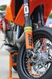 Αναστολή KTM Supermoto Στοκ εικόνες με δικαίωμα ελεύθερης χρήσης