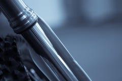 Αναστολή δικράνων μοτοσικλετών στοκ φωτογραφία με δικαίωμα ελεύθερης χρήσης