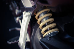 Αναστολή μοτοσικλετών στοκ εικόνα