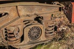 Αναστολή ροδών του σιδηροδρομικού βαγονιού εμπορευμάτων στοκ εικόνες με δικαίωμα ελεύθερης χρήσης