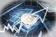 Ανατίναξη αποθεμάτων Bitcoin στοκ εικόνα με δικαίωμα ελεύθερης χρήσης