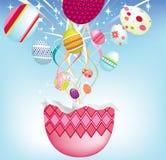 ανατίναξη αυγών Πάσχας διανυσματική απεικόνιση