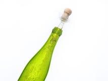 ανατίναξη σαμπάνιας μπουκαλιών Στοκ Φωτογραφία