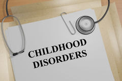 Αναταραχές παιδικής ηλικίας - ιατρική έννοια απεικόνιση αποθεμάτων