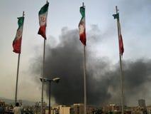 αναταραχή της Τεχεράνης Στοκ Φωτογραφίες