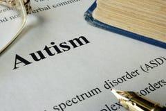 Αναταραχή ASD φάσματος αυτισμού Στοκ φωτογραφία με δικαίωμα ελεύθερης χρήσης