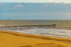 Ανατολή αποβαθρών αλιείας παραλιών της Βιρτζίνια, παραλία της Βιρτζίνια, Βιρτζίνια Στοκ φωτογραφίες με δικαίωμα ελεύθερης χρήσης