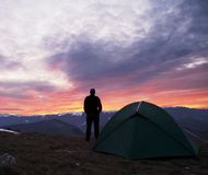 ανατολή βουνών στοκ φωτογραφία με δικαίωμα ελεύθερης χρήσης