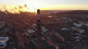 Ανατολή εργοστασίων Nytva απόθεμα βίντεο