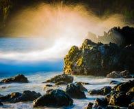 Ανατολή κοντά στην ακτή Hilo, Χαβάη στοκ φωτογραφία με δικαίωμα ελεύθερης χρήσης