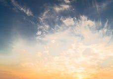 Ανατολή ουρανού και καλοκαιριού σύννεφων Στοκ εικόνα με δικαίωμα ελεύθερης χρήσης