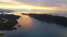 Ανατολή πέρα από τη Μεσόγειο πυροβολισμός από τον αέρα φιλμ μικρού μήκους