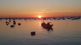 Ανατολή πέρα από το Bassin d& x27 Αρκασόν, ΚΑΠ-κουνάβι, Γαλλία στοκ φωτογραφίες με δικαίωμα ελεύθερης χρήσης