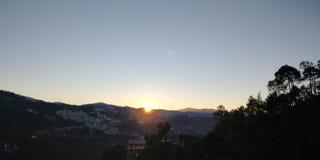 Ανατολή, πρωί σε Shimla στοκ εικόνες με δικαίωμα ελεύθερης χρήσης