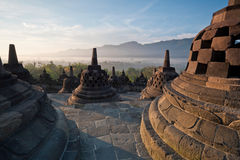Ανατολή πρωινού ναών Borobudur στοκ εικόνες με δικαίωμα ελεύθερης χρήσης
