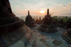 Ανατολή πρωινού ναών Borobudur στοκ φωτογραφίες με δικαίωμα ελεύθερης χρήσης