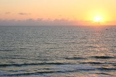 Ανατολή πρωινού στην παραλία Φλώριδα Vero στοκ εικόνες